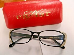 Brand New Authentic Caviar Eyeglasses M 1772 C4 53mm Austrian Crystals Frame