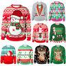 UGLY XMAS CHRISTMAS SWEATER Santa Elf Popular Women Men Winter Warm Sweatshirts