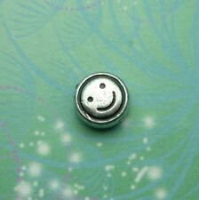 New Silver Smiley Face Jewel Charm for Floating Memory Living Locket Necklaces