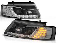 LED HEADLIGHTS LPVWB4 VW PASSAT B5 SALOON ESTATE 1996 1997 1998 1999 2000 BLACK