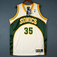 100% Authentic Kevin Durant Adidas Seattle Sonics Jersey Mens Size 48 Xl 52