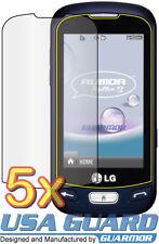 5x Clear LCD Screen Protector Guard Shield Film LG Rumor Reflex S LN272 LN272S