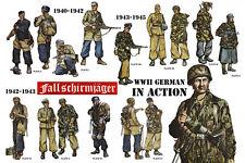 WW2 World War Two Germany Fallschirmjager Military Uniforms Poster 20x30 #004
