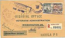 MEDICINE RED CROSS : PHILIPPINAS PHILIPPINES - POSTMARK on cover 1950