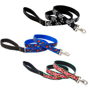 """Lupine 1"""" Width Leashes in 4 foot & 6 foot with Original Snap End - Made in USA"""