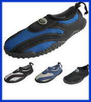 Men's Water Shoes Aqua Socks Adjustable Slip On Beach Pool Yoga Exercise 7-13