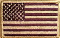 USA Purple Flag Embroidered Iron-On Patch  American  United States White Border