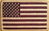 USA Purple Flag 3 X 2 Iron-On Patch  American  United States EMBLEM #10