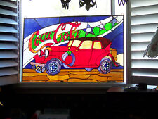 Coca Cola Car Stained Glass Window