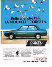 PUBLICITE ADVERTISING 1983   TOYOTA  COROLLA  sedan ou liftback