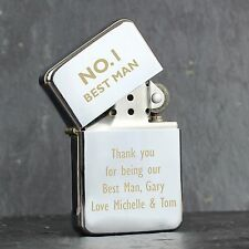 Personalised Engraved No1 Lighter: No.1 Free Text- Ideal for Birthdays, Weddings
