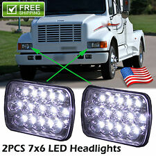 2X 7x6 LED Headlights Hi-Lo Beam for International Harvester 4700 4800 4900 8100