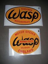 Wasp Gespann Sidecar Motocross Aufkleber  22 x 13 oder 17 x 14 cm Rhind-Tutt
