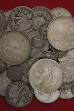 MAKE OFFER 8 Standard Ounces 90% Silver Junk Coins 2 Silver Dollars INCLUDED