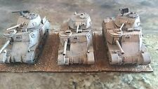 Troop of 3 1/56 scale/28mm WW2 British M3 Grants. Well Painted Blitzkrieg Resin