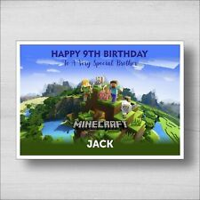 Personalised Minecraft Birthday Card - Girl or Boy - Any Name and Age (B15)