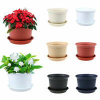 US Small Plant Flower Pot Planter Resin Flowerpot Simple Garden Home Decor Gift