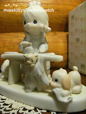 Precious Moments~E9265~PRESS ON~Girl Ironing Clothes~Cat Dog Basket Board~vessel