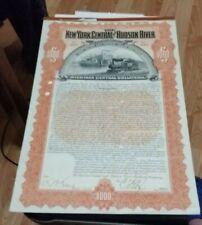 The New York Central and Hudson River Railroad Company Michigan Bond