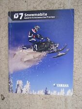 2007 Yamaha Snowmobile Apparel Accessories Preview Color Promo Catalog   U