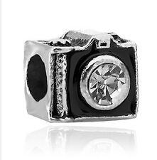 New European Silver CZ Charm Beads Fit sterling 925 Necklace Bracelet Chain j124