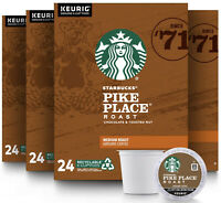 Starbucks Pike Place Medium Roast Coffee K-Cups Pods - 96 Count BEST BY MAR 2021