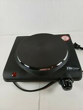 Maxi-Matic ESB-301BF Single Electric Flat Cast Iron Heating Plate Burner Power
