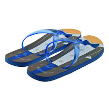 8ccef769606ea2 Blue Tux Style Just Married Design Mens Blue Flip Flops UK 8-11 - XFFS086
