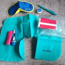 VINTAGE AIR 2000 Plane GENUINE PASSENGER IN-FLIGHT Kit Head Rest Mask Etc