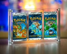 Pokemon Cards Booster Pack Acrylic Display Case WOTC 1 SLOT, 3 SLOT & 4 SLOT