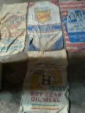 Vintage advertising feed sacks