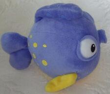 "Disney Clown Blue Yellow Fish 7"" Washable Toy Plush Baby 1334A001"