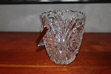 GRAND Sceau BOL à glaçons glace en verre 13 X 11 CM ANCIEN VINTAGE 60's 70's #MH