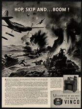 1944 VINCO Corporation - WWII P-38 Bomber Airplane Art - Army  VINTAGE AD