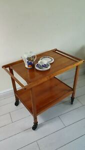 Mid Century Vintage Retro Teak Trolley Removable Trays 60's 70's Retro Original