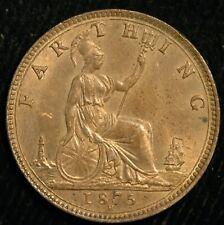 More details for farthing victoria bun head 1875 h unc (t33)