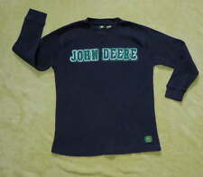 JOHN DEERE Boy's Black Thermal Long Sleeve SHIRT Sz 10/12 Classic