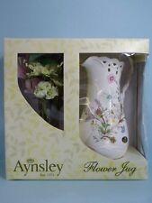 Rare Aynsley Wild Tudor Chantille Large Flower Jug Fine Bone China Boxed