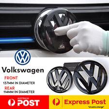 GLOSS BLACK GRILLE & HATCH BADGE SET EMBLEM VOLKSWAGEN VW GOLF MK7 MK7VII GTI R