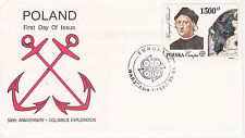 1992 500th Anniversary Of Christopher Columbus Exploration Fdc - Poland
