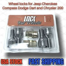 Wheel Locks for Jeep Cherokee Compass Chrysler 200 Dodge Dart With 2 Keys