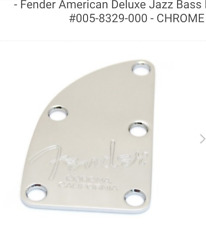 NECK PLATE FENDER BASS American DELUXE - 0058329000 - chrome - pour basse USA
