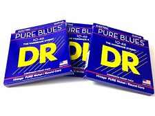 DR Guitar Strings 3 Pack Electric Pure Blues Vintage Pure Nickel 10-46