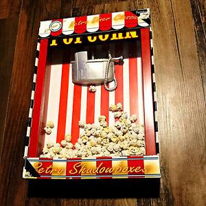 ICA Home Decor Retro Dinner Classics Shadowboxes Movie Popcorn Machine New