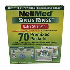 3 Pack NeilMed Sinus Rinse Extra Strength Soothing Saline - 70 Packets Each