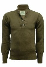BRAND NEW GENUINE ORIGINAL USA MILITARY 100% WOOL 5-BUTTONS SWEATER PULLOVER