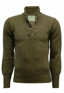 Army Wool Jumper Original US Camping Work Fishing Pullover Winter Sweater Top