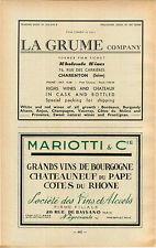 ADVERT Burgundy Vineyard Wine La Grume Mariotti Bourgogne Chateauneuf du Pape