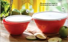 TUPPERWARE wonderlier bowl 1.2 L + 2.5 L Farbe Rot