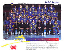 1992-93 BUFFALO SABRES 8x10 TEAM PHOTO HOFers Lafontaine Hawerchuk Fuhr REPRINT